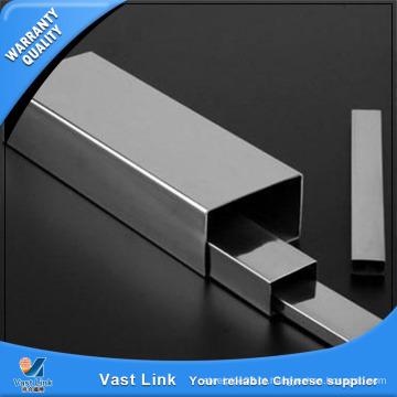Tubo quadrado de aço inoxidável ASTM A554