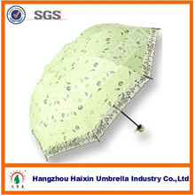 21''Arc Promotion Cheap 3 Folding UV Umbrella