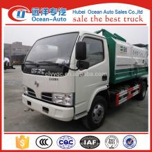 Dongfeng 5m3 camión de basura auto basculante
