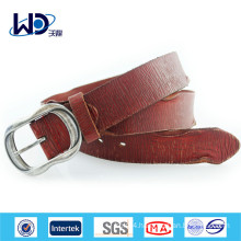 Fashion Men Genuine Cowhide Leather Belt with Pin Buckle
