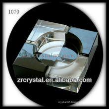 K9 Black and White Crystal Ashtray