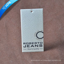 Etiqueta colgante de marca de papel de especialidad de moda