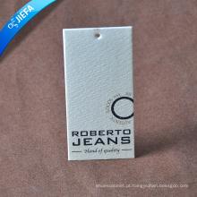 Papel de arte especial espesso personalizado / etiqueta de papel para Jean Tag