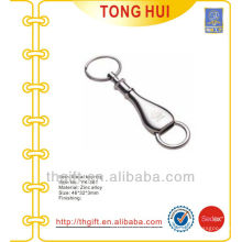 Silver Perfume bottle shape key chain/key rings for promotion gifts