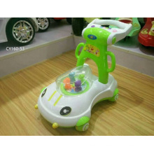 Passeio de crianças no balanço de brincar ao ar livre Wiggle / Twist Car com alça de barra