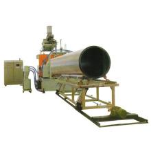 Chaîne de production de tuyau d'enroulement de mur creux de grand diamètre de HDPE