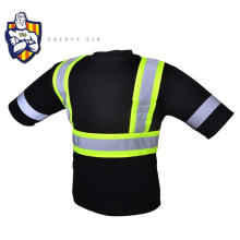 new design 100%polyester birdeyes crew neck high visibility T-shirt with adult spots safety products