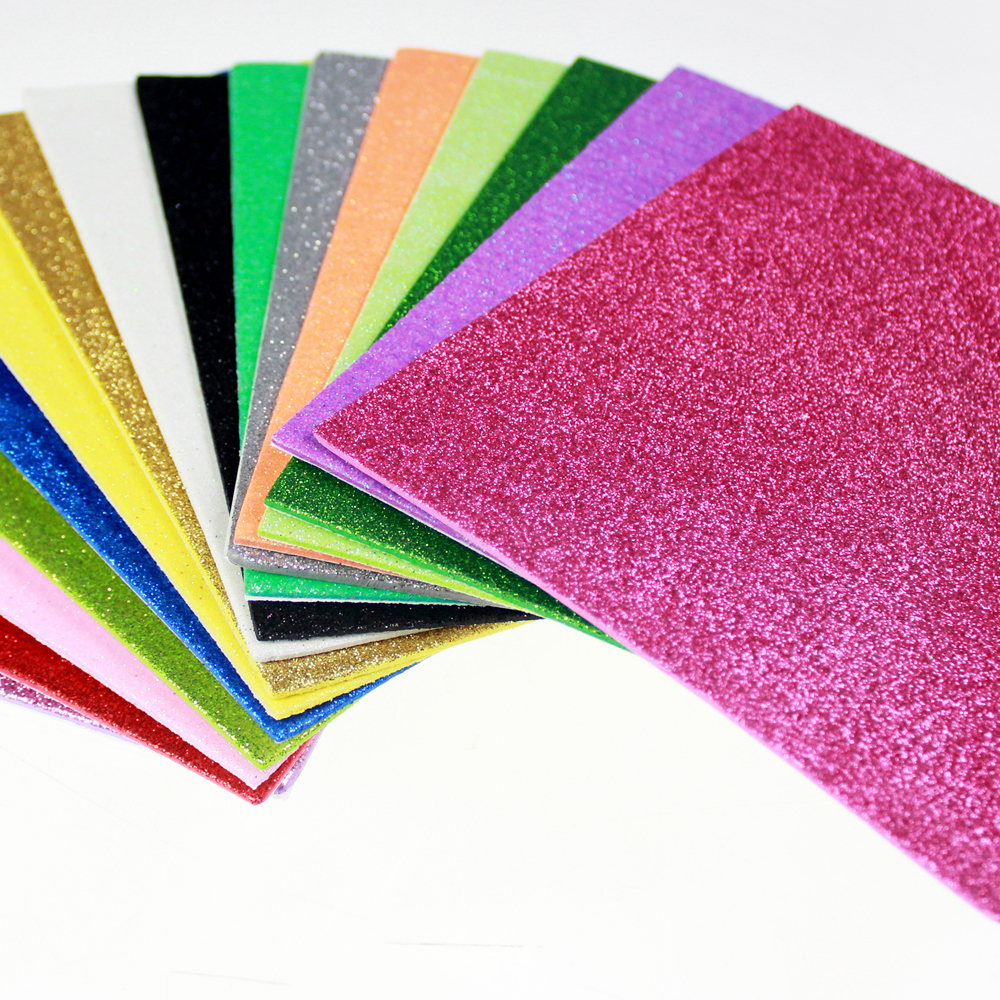 Glitter Foam sheet in assorted colors