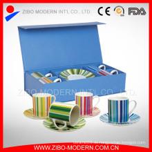 Großhandel empfindliche weiße Porzellan Teetasse und Untertasse Halter