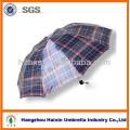 Guarda-chuva de dobramento dos homens baratos Hot vender com Design Check