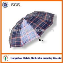 Billiger Falten-Regenschirm der Männer heißer Verkauf mit Check-Design