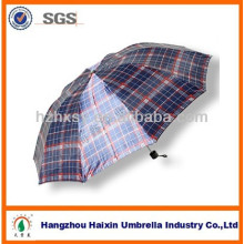 Cheap Men's Folding Umbrella Hot Sell with Check Design