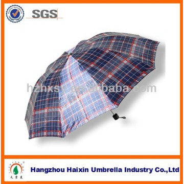 Barato paraguas de los hombres baratos Venta caliente con diseño de cheque
