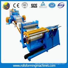 Stahlbandschneid- und -schneidemaschine