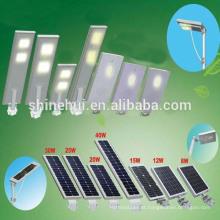 Últimas 80W LED tudo em uma luz de rua solar com sensor infravermelho humano