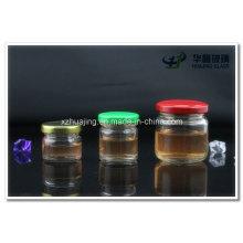 25ml - 500ml klare Runde Glas Vorratsdosen für Honig Marmelade Süßigkeiten