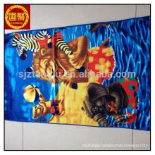 China wholesale microfiber facial cleaning towel, baby cartoon bath towel