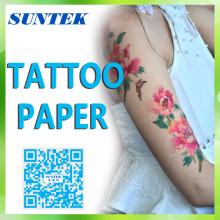 Струйные/лазерная временное воды слайд татуировка передачи бумаги тату Термоаппликации бумаги