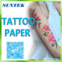 Ce / RoHS / Reach Laser / Inkjet temporal Water Slide Tattoo Decal papel para DIY