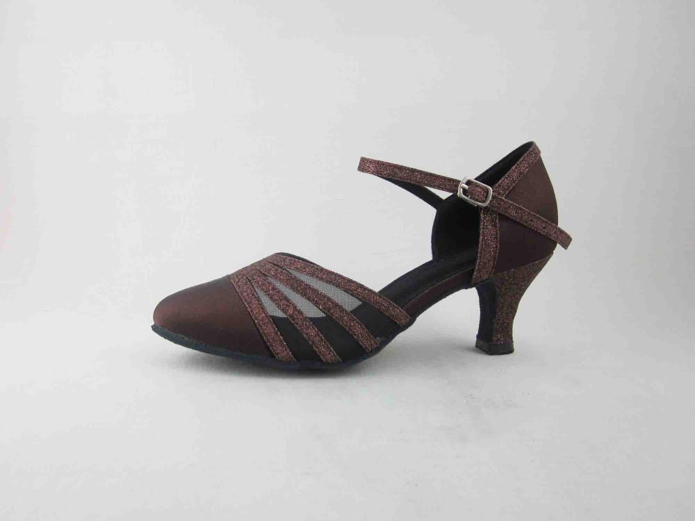 Brown Satin Dance Shoes For Womens