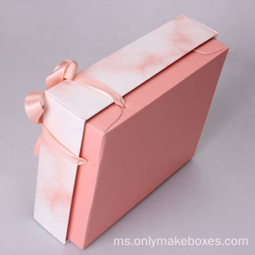 Reka bentuk Elegant Marble Series Clothing Packing Paper Box