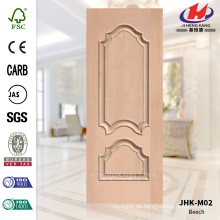 JHK-M02 decorativo en relieve Protude HDF vieiras Veneer Beech Puerta Coste de la piel