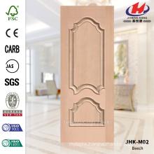 JHK-M02 Decorative Embossed Protude HDF Scallops Veneer Beech Door Skin Cost