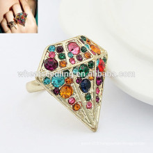 Wholesale diamond ring adjustable unique indian fashion rings