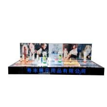 high quality custom cosmetic prdoucts store used acrylic cosmetic display counter stand