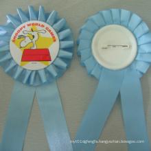 Ribbon Tin Badge, Lovely Pattern Lapel Pin (GZHY-TB-004)