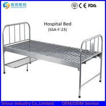 Hospital barato de acero inoxidable plana camas médicas