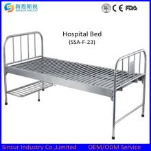 Больничные кровати из нержавеющей стали плоские медицинские