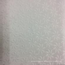 Polyester Blumenmuster Jacquard Stoff für Kleidung, Sofa, Kissen, Kissen