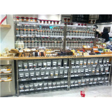 Multifunction 4 Tiers Chrome Metal Wire Shop Display Shelf
