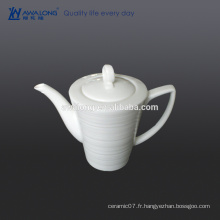 Custom High Brightness Bone China White blank Pot de café en céramique