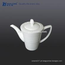 Custom alta luminosidade Bone China Branco em branco cafeteira cerâmica