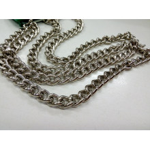 Vernickelter Stahl Twisted Link Chain