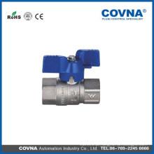 Made in China válvula de esfera de latão mini com preço