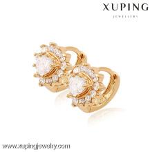 (90067) Pendiente plateado oro de alta calidad de Xuping Fashion 18K