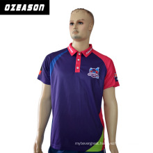 High Quality Short Sleeves Women Fashion Pink and Purple Polo