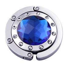 Gancho bonito da bolsa com diamantes brilhantes