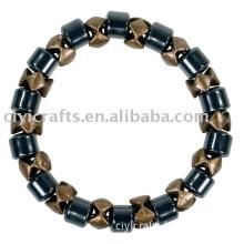 Magnetic Wind-fire whell Bracelet-Brown colour;Magnetic bracelet; magnetic jewelry;magnetic hematite bracelet