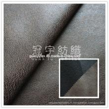 Faux cuir 100 % Polyester canapé tissu