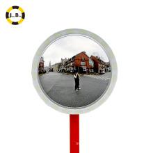 Espelho de vidro convexo interior e exterior com rebordo de película reflectora