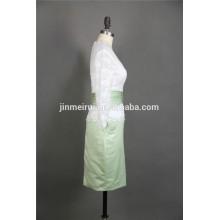 Alta calidad vaina encaje media manga de la rodilla verde y blanco madre corta de los vestidos de novia de la boda mujer 2015