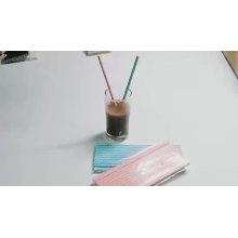 Produto comestível acessório de empacotamento da barra da caixa que imprime a palha bebendo de Eco biodegradável, palha de papel bebendo da cor