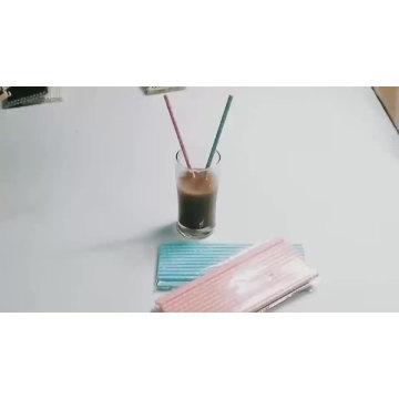 Großhandel Lebensmittelqualität Eco Farbe Papierstroh, biologisch abbaubarem Papiertrinkhalm