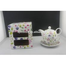 La taza agraciada del pote del té de la flor de la porcelana personal popular nueva de la llegada fijó para uno