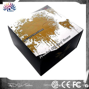 Top Packing Box Tattoo Disposable Machine Clip Cord Cover,125pcs Clip Cord Sleeves,