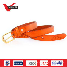 Vintage Cowhide Pin Buckles Women Belts